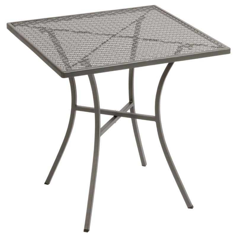 Table Top Dishwasher Hertfordshire : ... Grey Steel Patterned Square Bistro Table 710X700X700mm Restaurant Bar