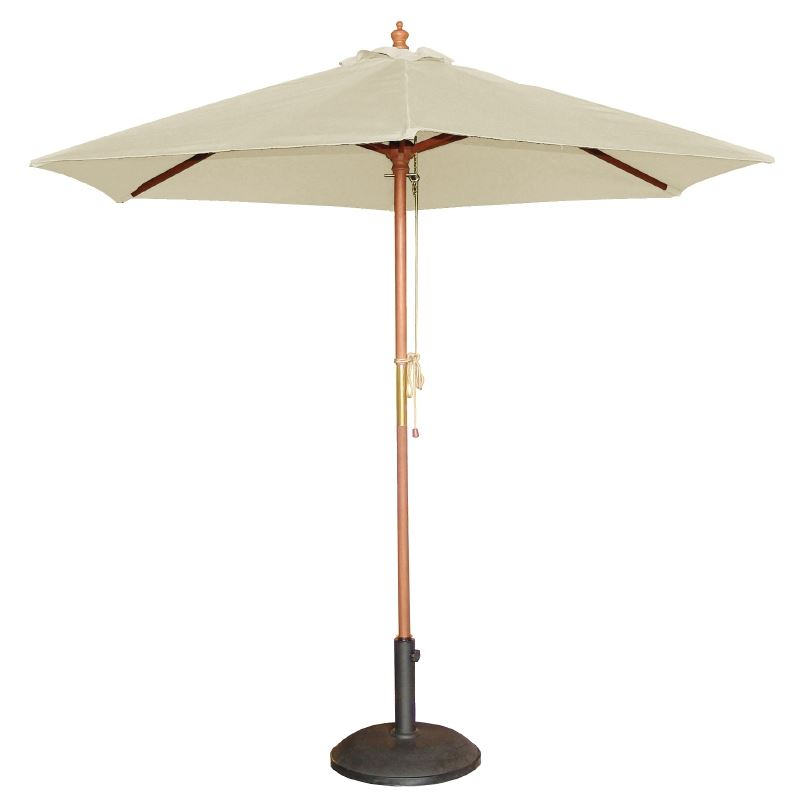 bolero round cream outdoor umbrella high parasol. Black Bedroom Furniture Sets. Home Design Ideas