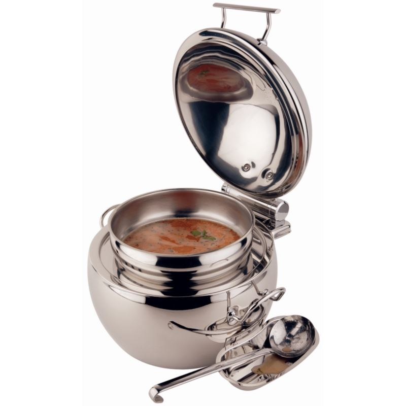 Restaurant Soup Warmer ~ Aps soup kettle mm stainless steel kitchen