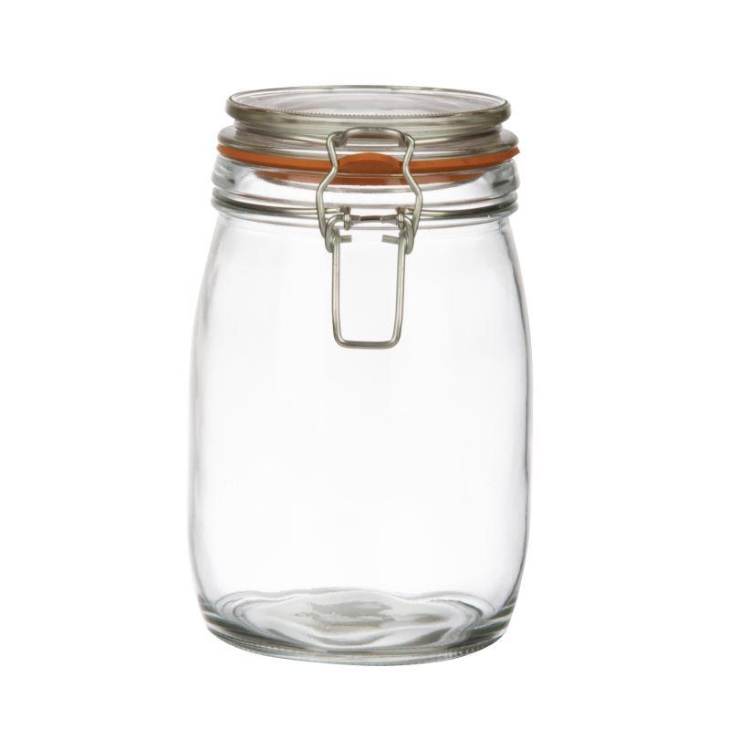vogue preserve jar 1ltr sealed clip top air tight food. Black Bedroom Furniture Sets. Home Design Ideas