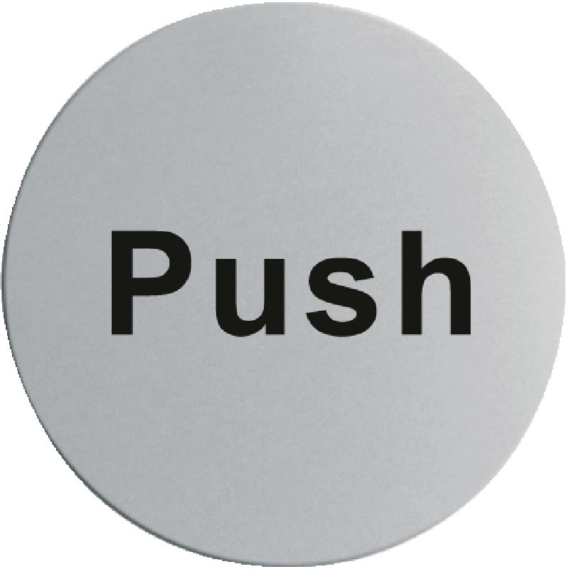 stainless steel door sign push self adhesive information notice plaque ebay. Black Bedroom Furniture Sets. Home Design Ideas