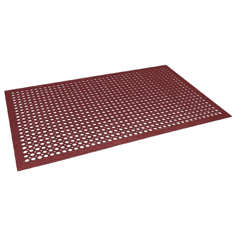 bolero rubber red anti fatigue mat indoor outdoor non slip floor grip rug carpet ebay. Black Bedroom Furniture Sets. Home Design Ideas