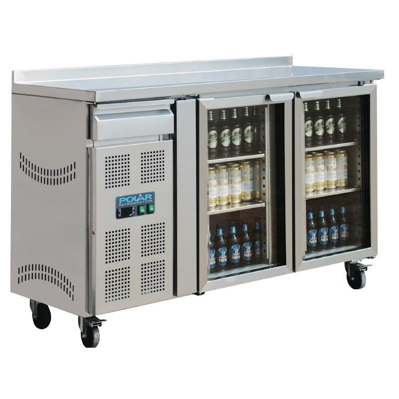 Polar Double Door Premium Bar Fridge Bottle Commercial Refrigerator Kitchen Ebay