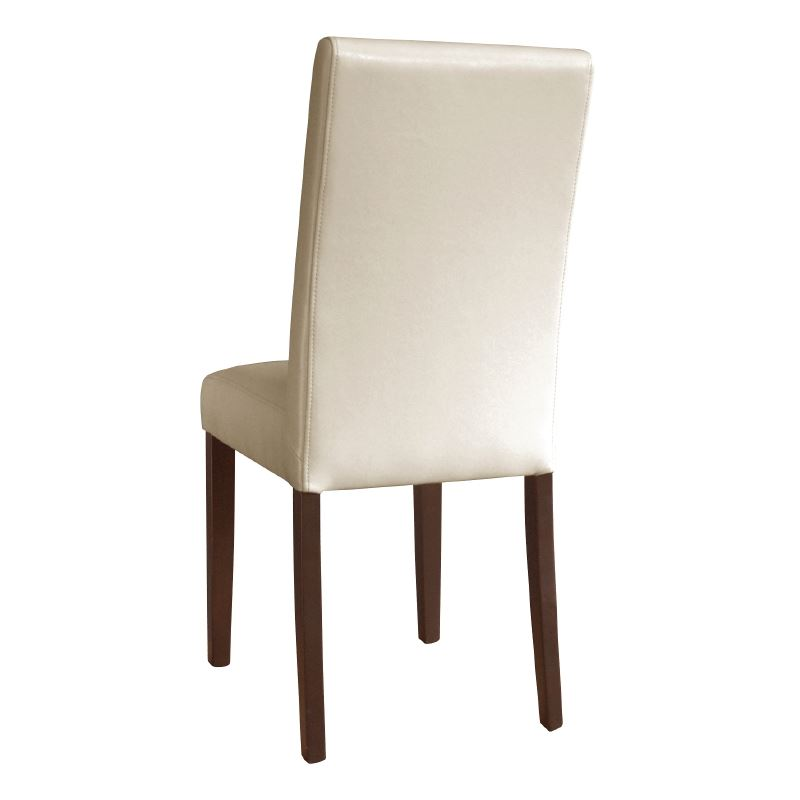 faux leather dining chairs cream restaurant cafe hotel furniture
