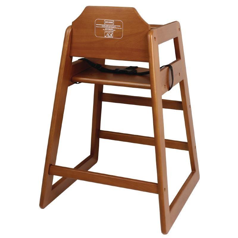 bolero wooden highchair dark wood finish restaurants cafe hotels bars furniture ebay. Black Bedroom Furniture Sets. Home Design Ideas