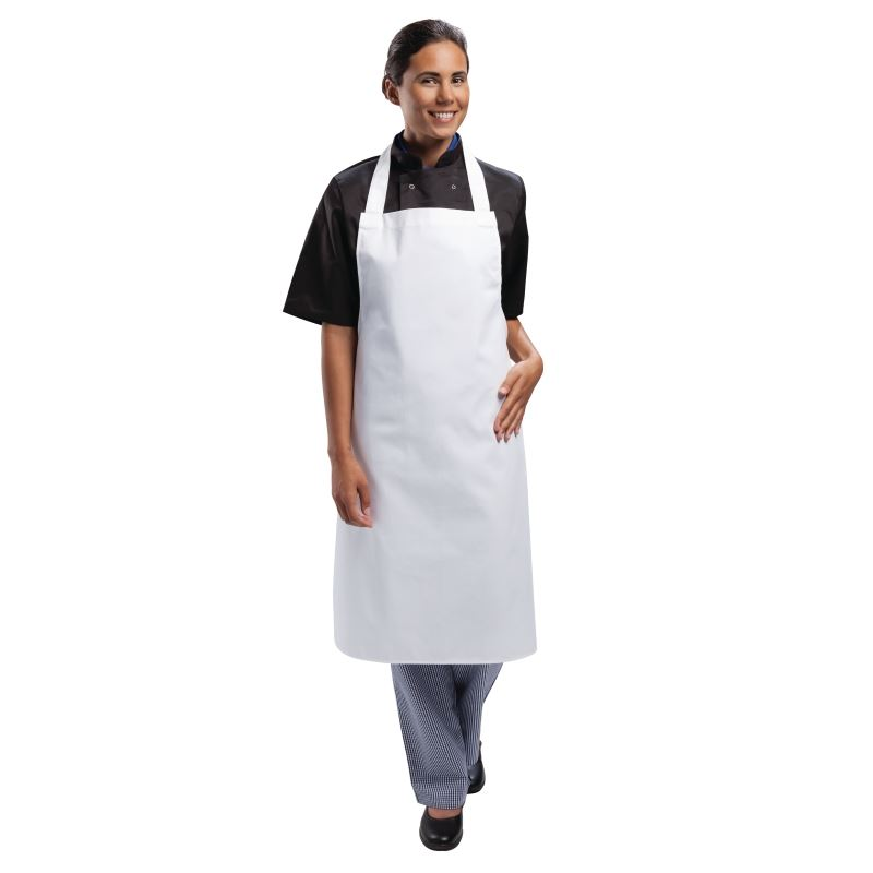 Whites Chefs Apparel Bib Apron White Chef Kitchen Catering