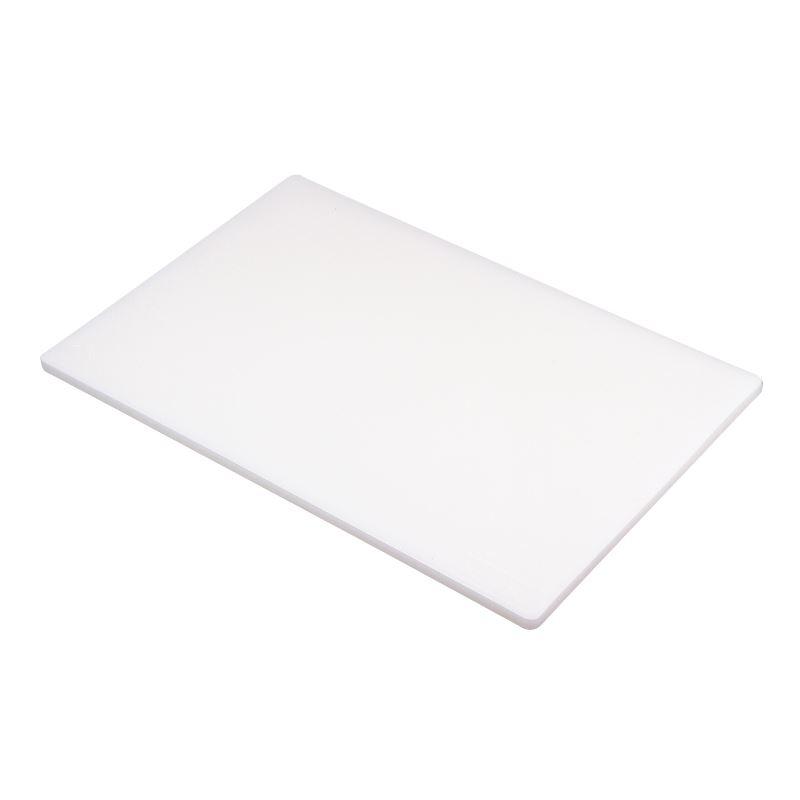 1 2 Density Board ~ Hygiplas standard low density white chopping board cutting