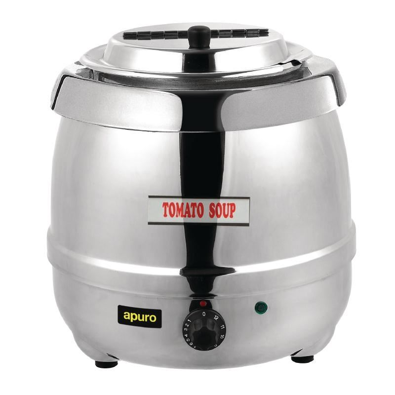 Electric Soup Warmer ~ Apuro stainless steel soup kettle electric water boiling