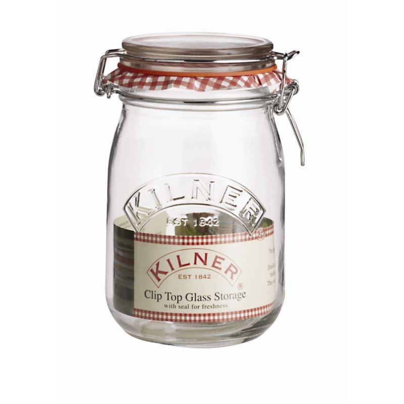 kilner clip top preserve jar 1ltr sealed air tight jam. Black Bedroom Furniture Sets. Home Design Ideas