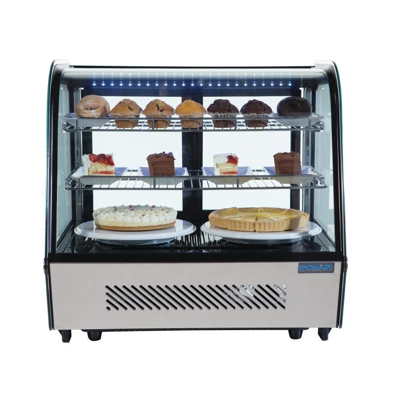 Polar Refrigerated Countertop Display Chiller 160L Curved Top ...