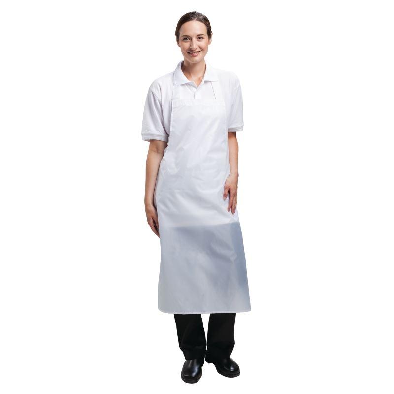 Whites Chefs Apparel Waterproof Bib Apron Nylon White