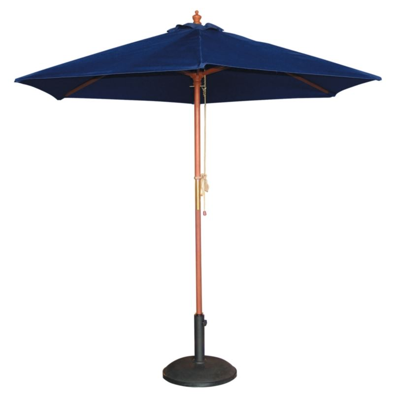 bolero round parasol diameter navy blue base. Black Bedroom Furniture Sets. Home Design Ideas