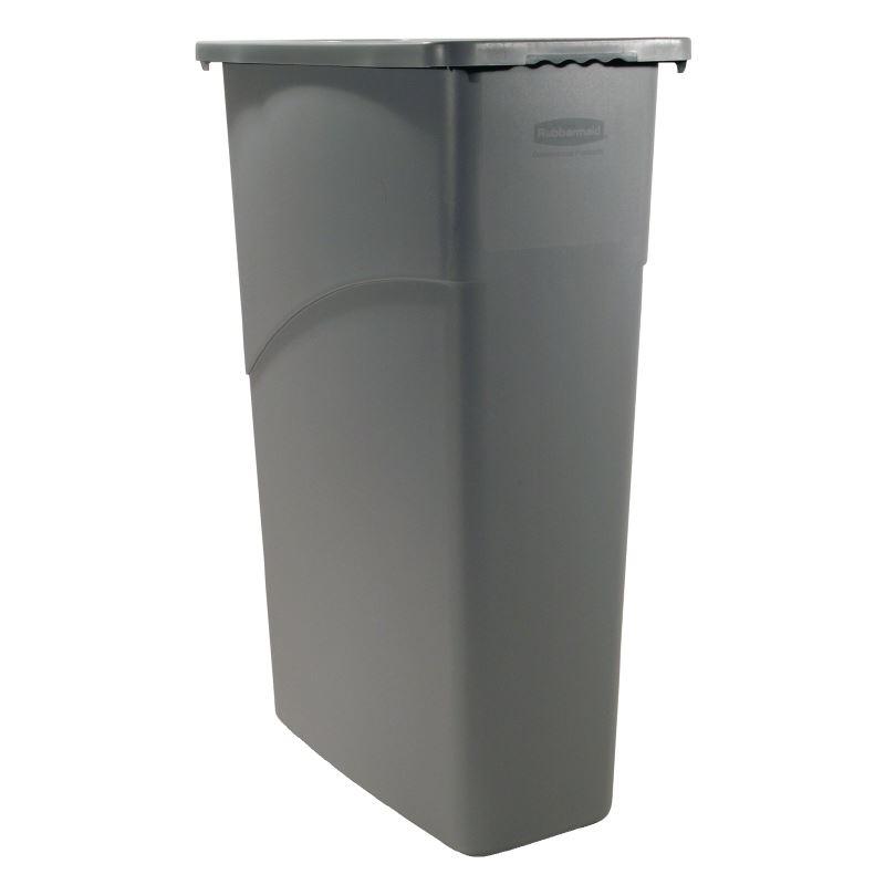 Rubbermaid Slim Jim Waste Bin 87ltr Wastebin Dust