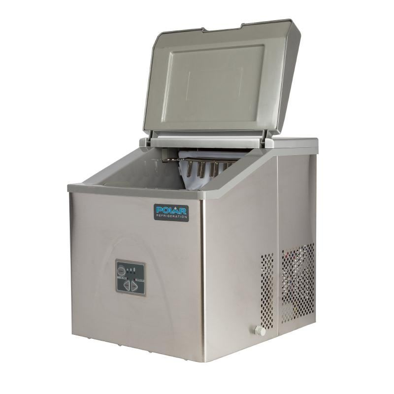 Polar Counter Top Ice Maker 15kg Output 415X365X420mm Stainless Steel ...