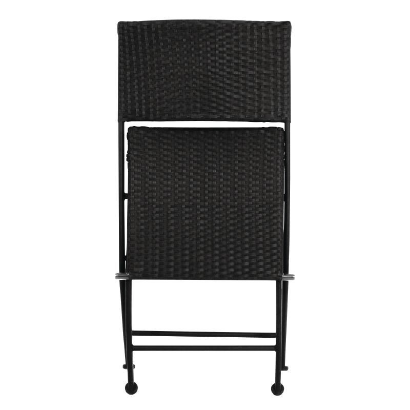 2x Bolero PE Wicker Folding Chair Set Restaurant Cafe Hotels Furniture