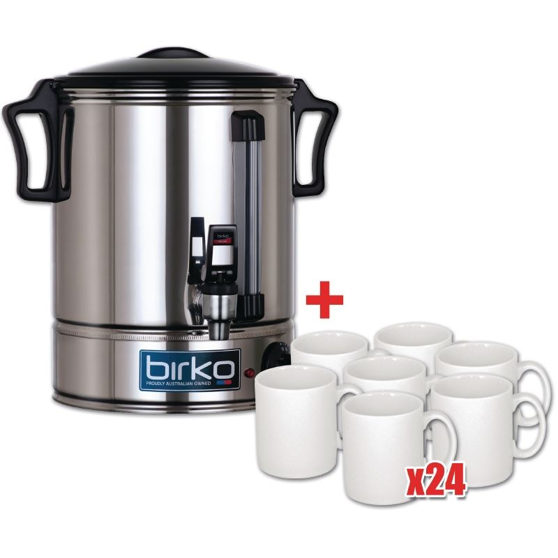 Birko 10ltr Hot Water Urn Amp 24 Free Mugs Ebay