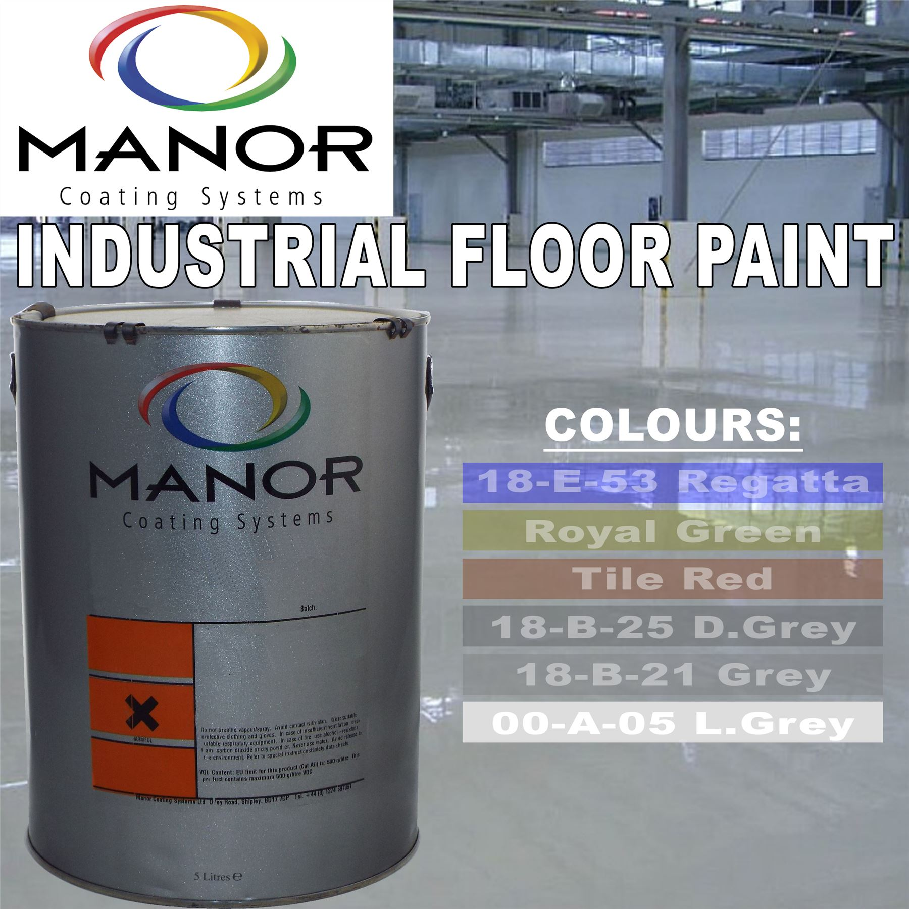 For A Floor That S Hard Wearing: LIGHT GREY 5 Litre Linotex Industrial Hard Wearing