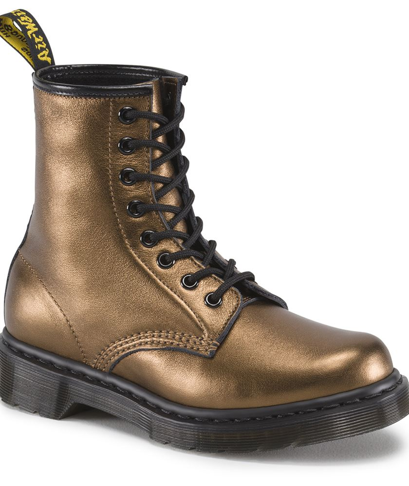 dr martens 1460 soft nappa leather metallic boots