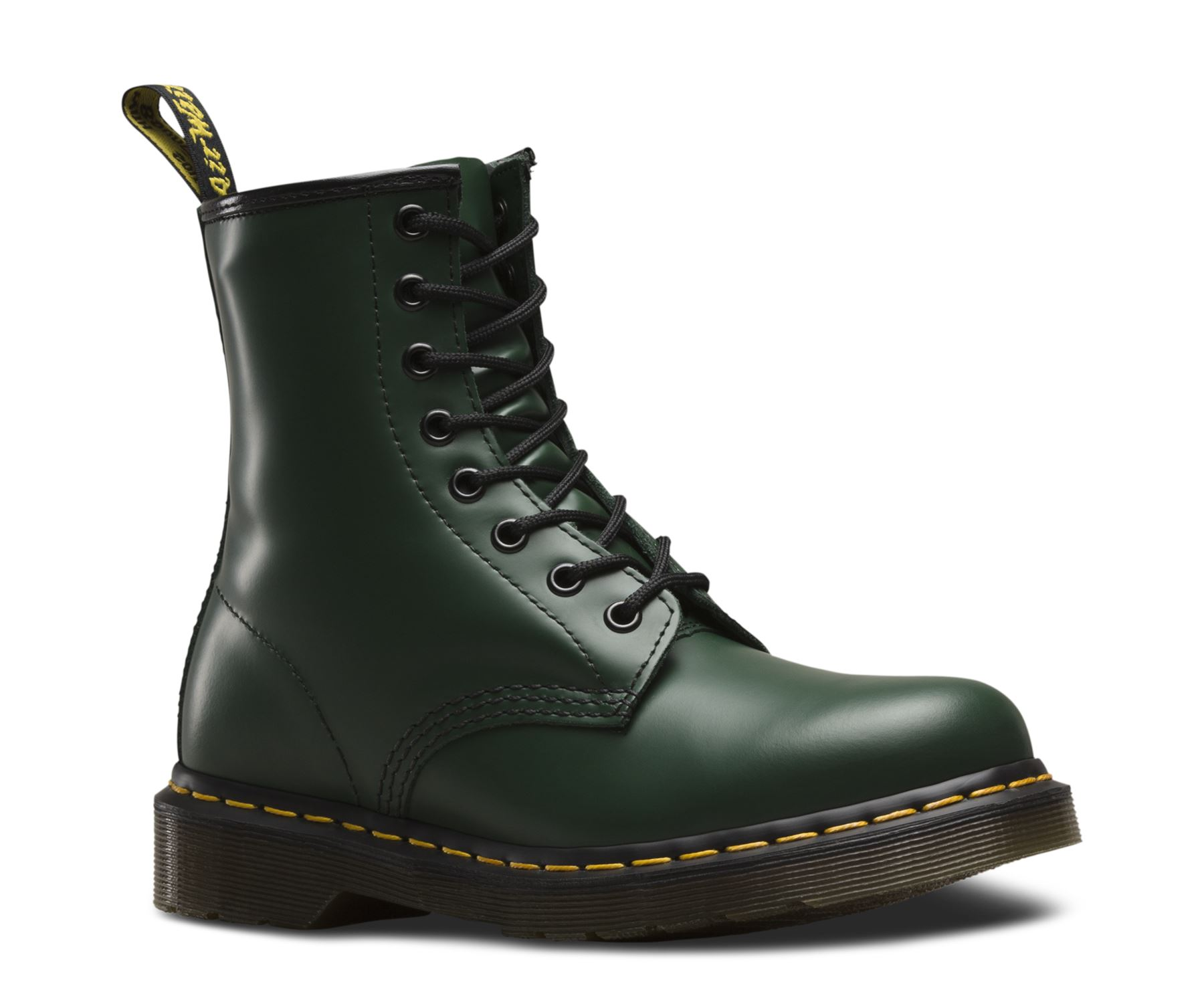 dr martens unisex 1460 green classic smooth leather 8 eye ankle doc boots ebay. Black Bedroom Furniture Sets. Home Design Ideas