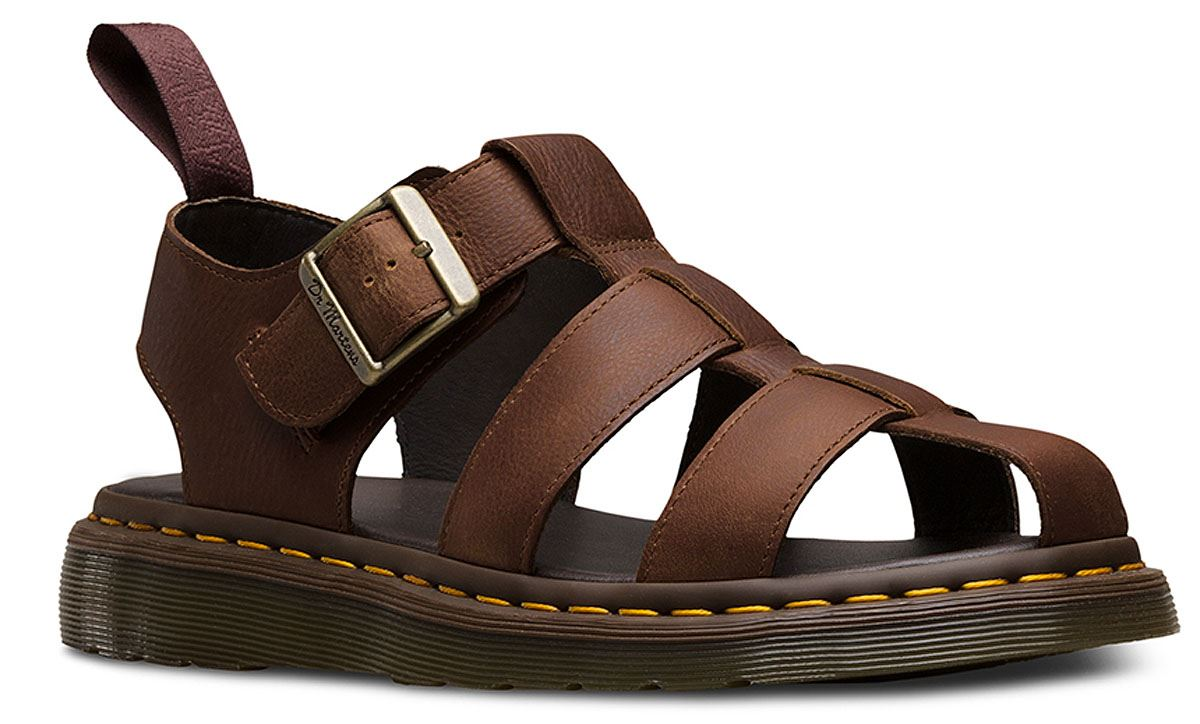 Dr martens mens galia carpathian leather luxury fisherman for Mens fishing sandals