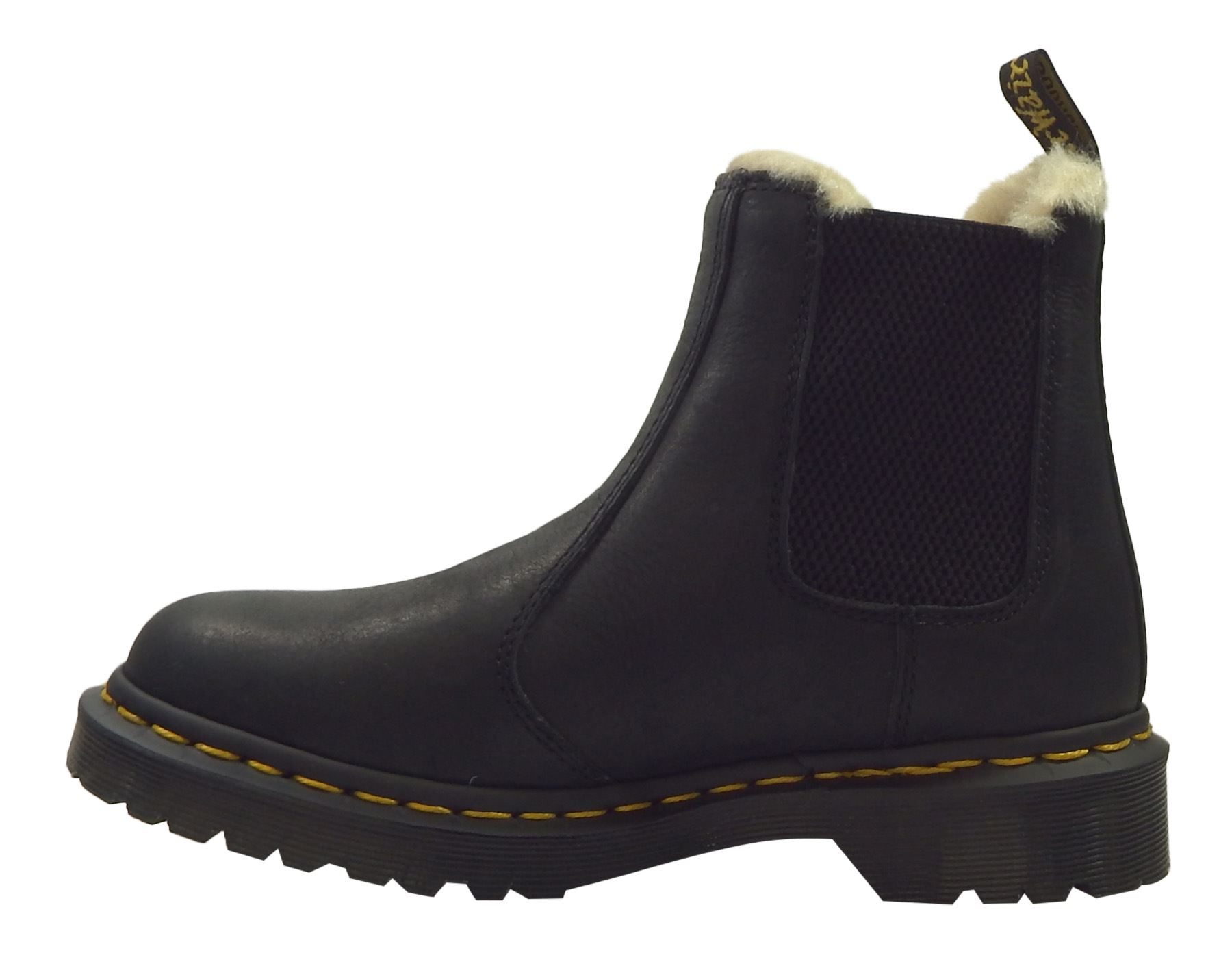 Dr Martens Ladies Leonore Faux Fur Lined Burnished Wyoming Leather ...