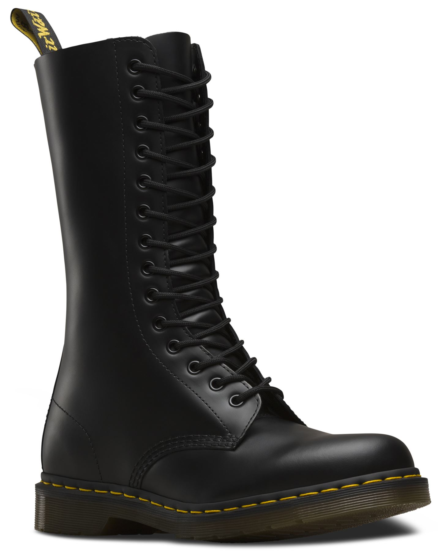 dr martens unisex 1914 smooth leather mid calf 14 eye doc boots ebay. Black Bedroom Furniture Sets. Home Design Ideas