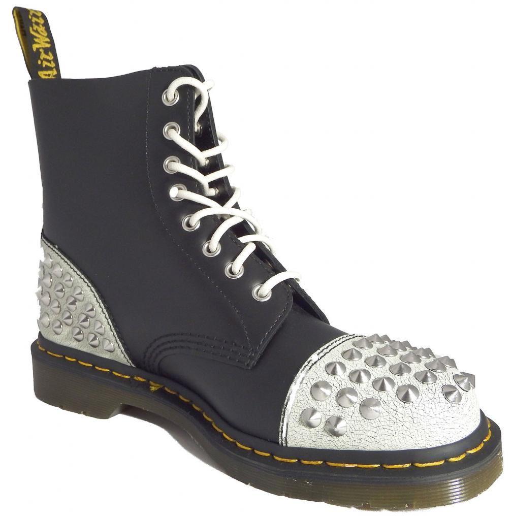dr doc martens 1460 dai white black cristal leather boots. Black Bedroom Furniture Sets. Home Design Ideas