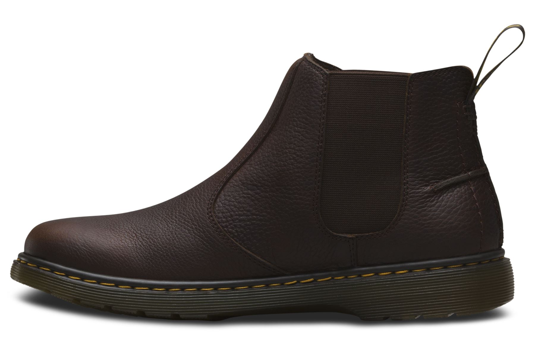 dr martens mens lyme grizzly heavyweight grained leather chelsea boots ebay. Black Bedroom Furniture Sets. Home Design Ideas