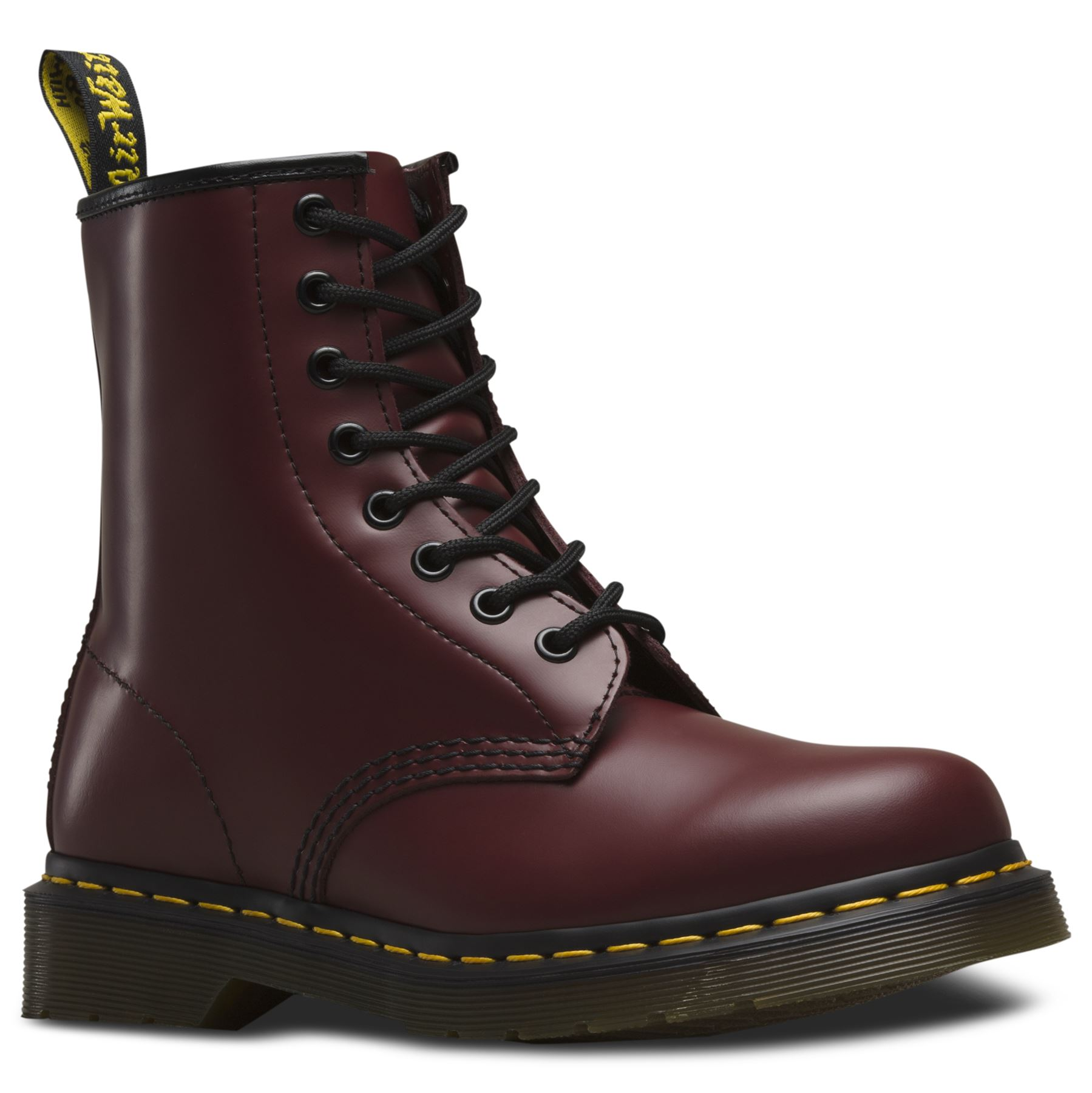 dr martens unisex 1460 cherry red classic smooth leather 8 eye ankle doc boots ebay. Black Bedroom Furniture Sets. Home Design Ideas