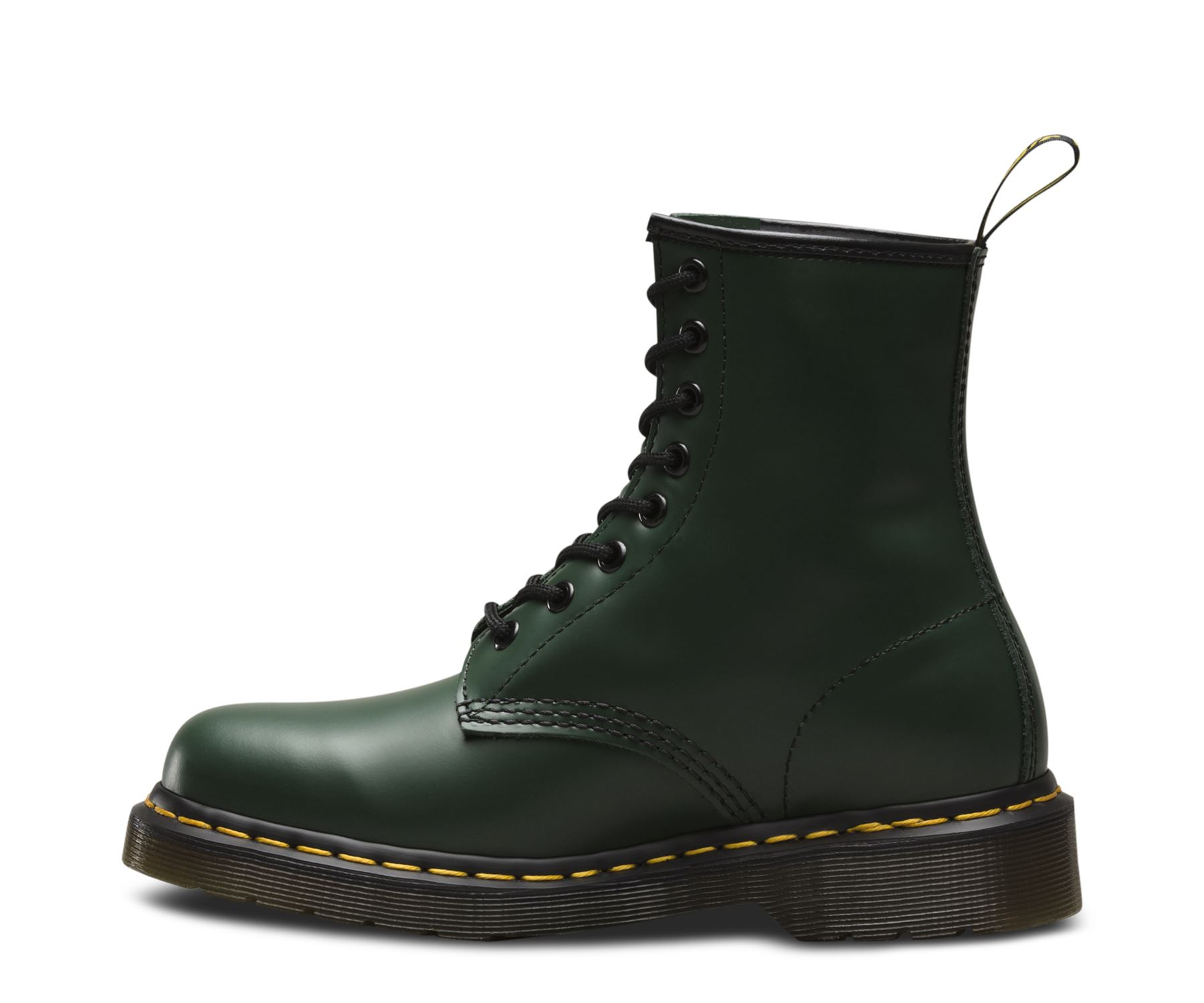 dr martens unisex 1460 green classic smooth leather 8 eye ankle doc. Black Bedroom Furniture Sets. Home Design Ideas