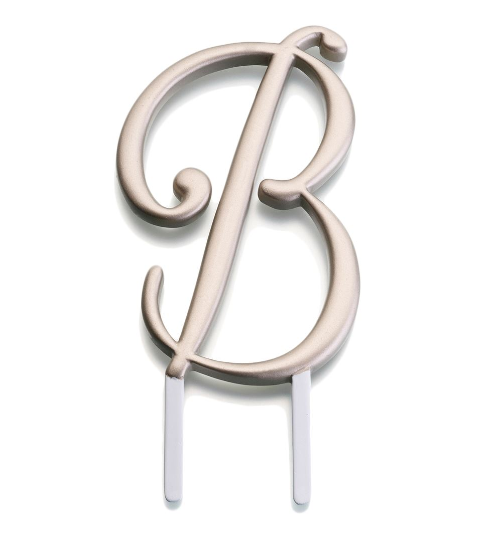 Monogram Cake Toppers Letter S : Weddings Birthdays & Anniversary s Monogram A to Z Letters ...
