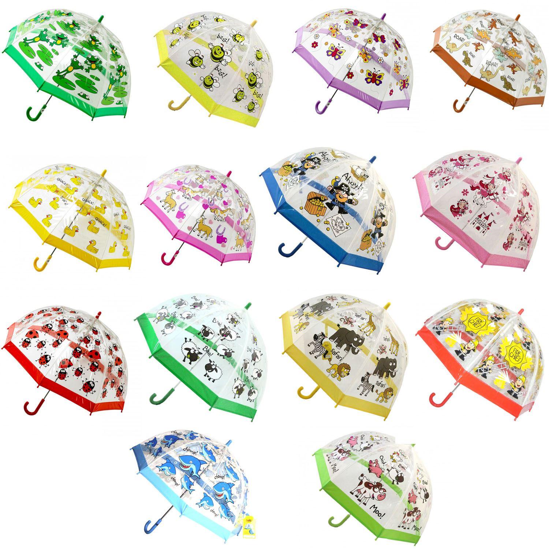 Bugzz Kids Childrens Clear PVC Colourful Dome Design ...