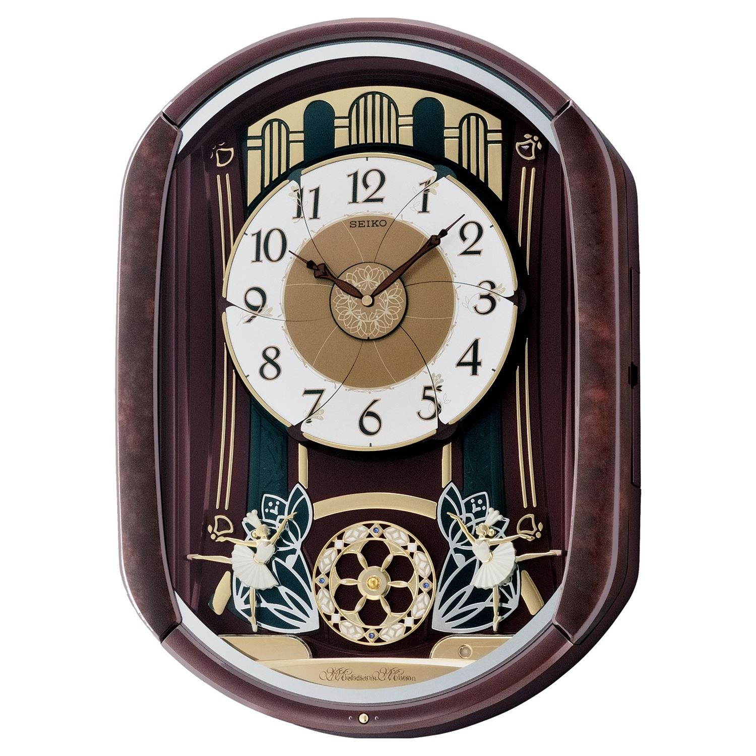 Seiko Qxm297b Melody In Motion Home Wall Clock 12 Melodies