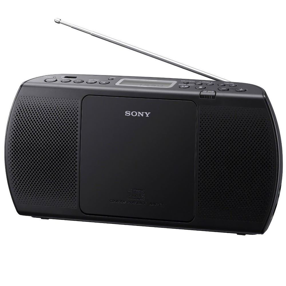 sony zs pe40cp slim portable audio in cd tape radio with. Black Bedroom Furniture Sets. Home Design Ideas