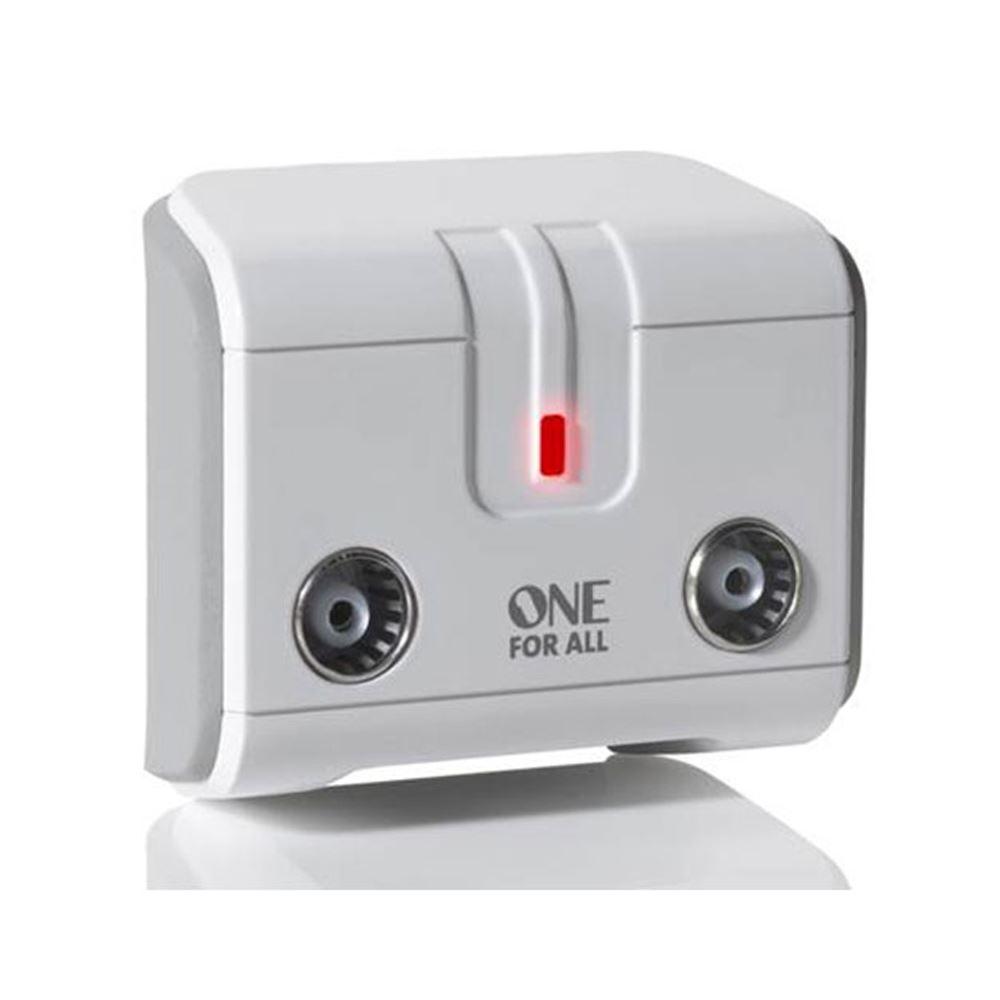 itm One For All SV  Voies Amplificateur TV De Rappel Signal Numerique Splitter
