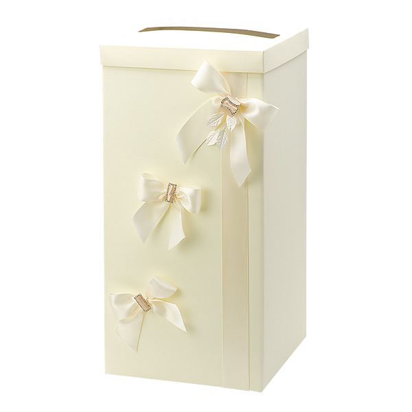 Silk Well Wishing Wedding Party Card Box With 48 Country Lace Guest Cards