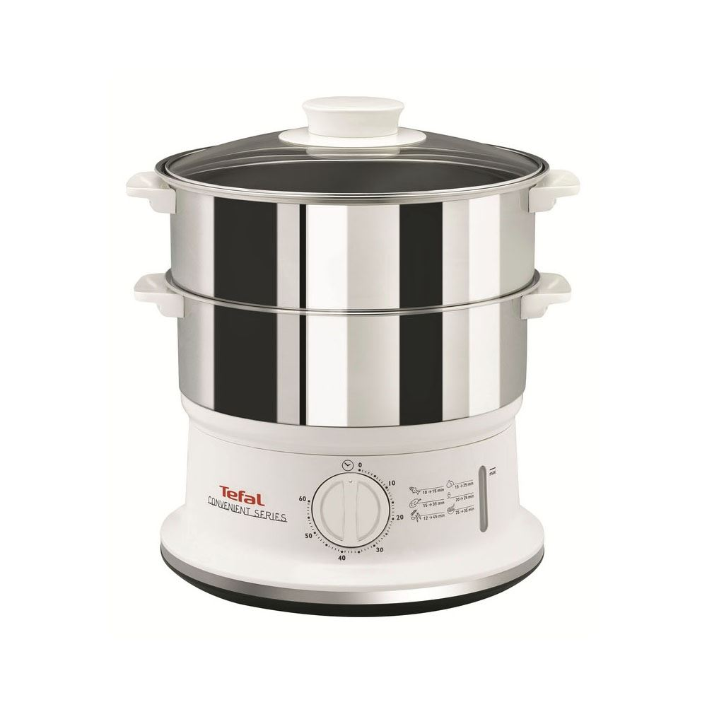 Stainless Steel Electric Vegetable Steamer ~ Tefal vc compact w l tier electric food