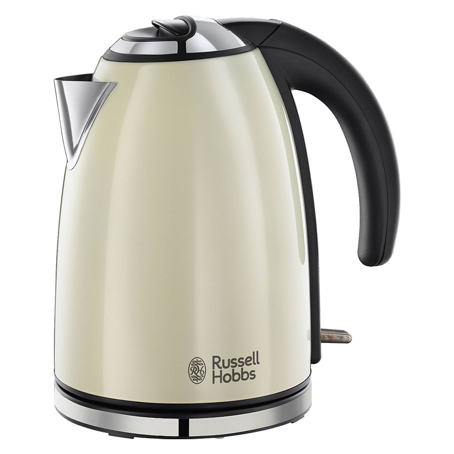 russell hobbs 18943 cream electric 1 7l stainless steel. Black Bedroom Furniture Sets. Home Design Ideas