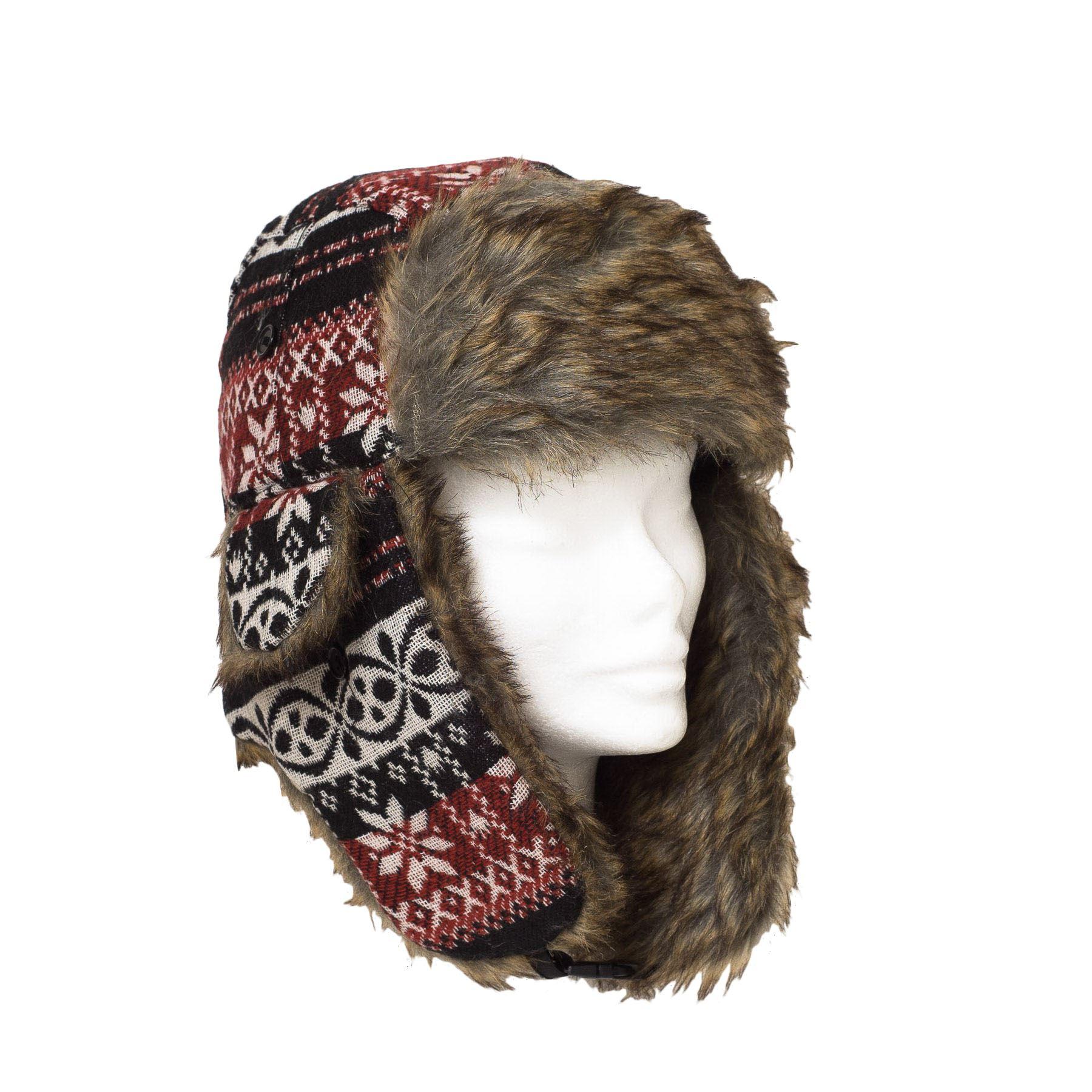 Mens Ladies Trapper Aviator Russian Ushanka Winter Hat ...