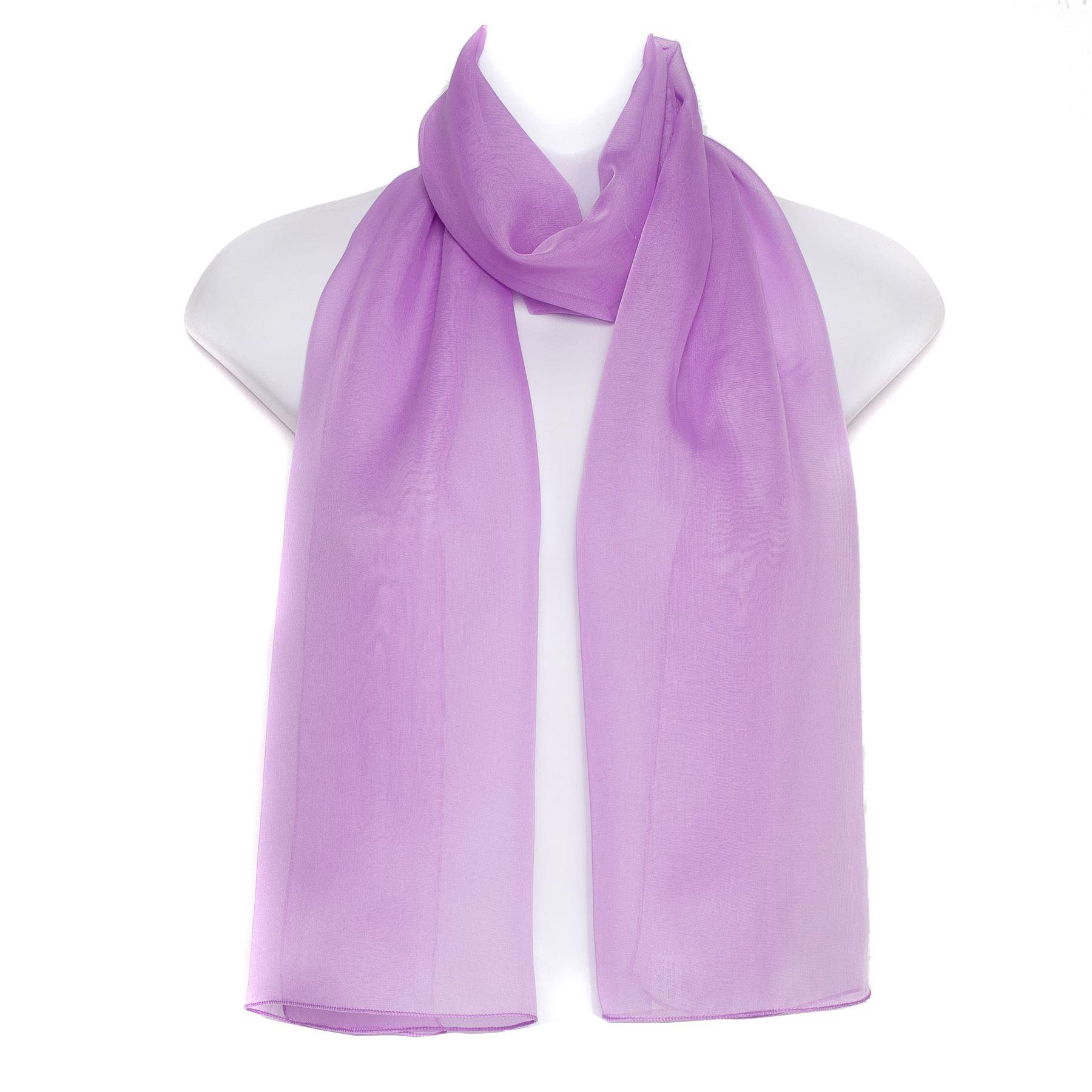 plain chiffon soft neck shawl stole wrap scarf
