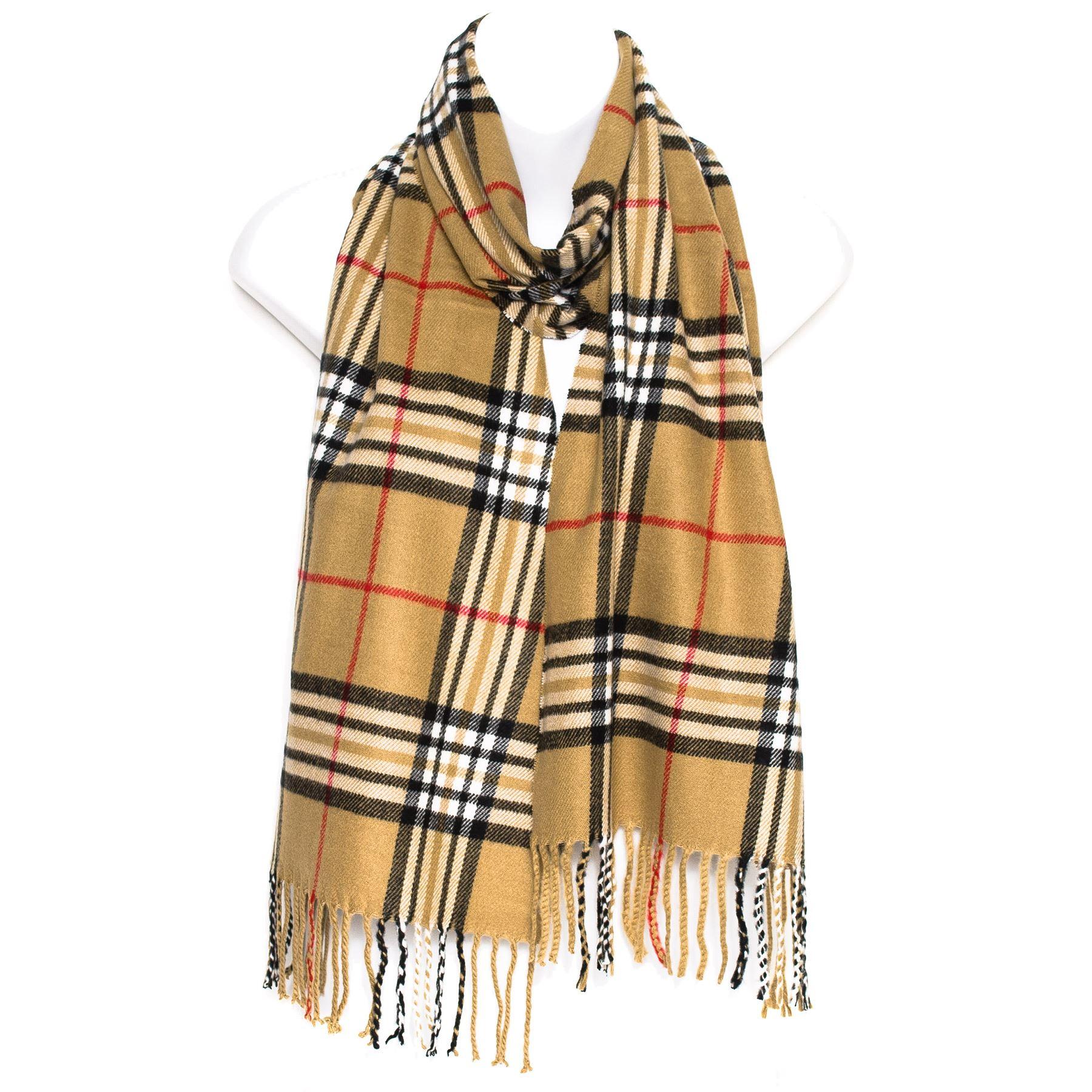 mens women lady tartan checked neck shawl stole wrap scarf ladies plaid scarves ebay. Black Bedroom Furniture Sets. Home Design Ideas