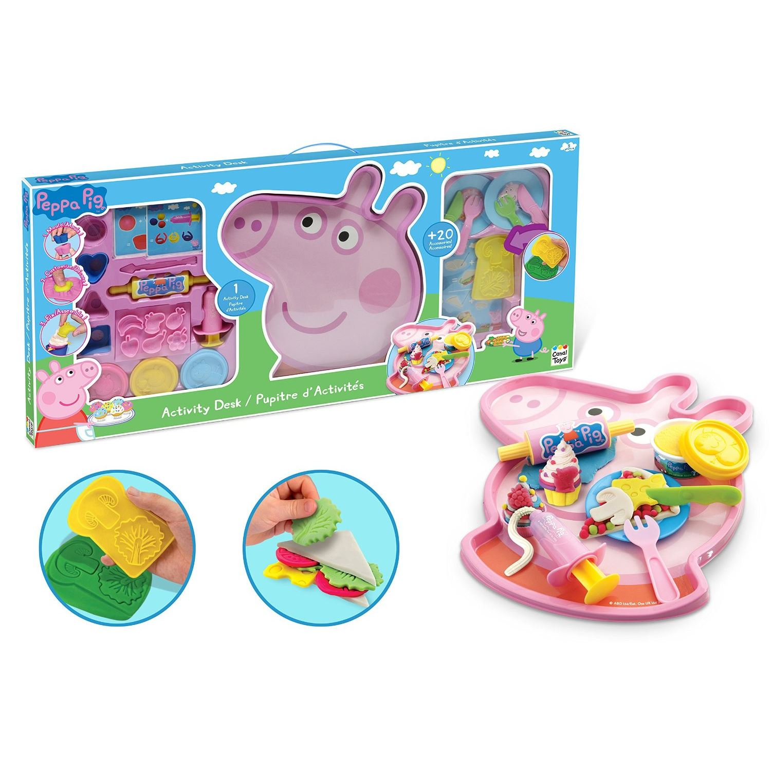 peppa pig pepp014 enfants en p tes activit bureau accessoires de cuisine jouet ebay. Black Bedroom Furniture Sets. Home Design Ideas