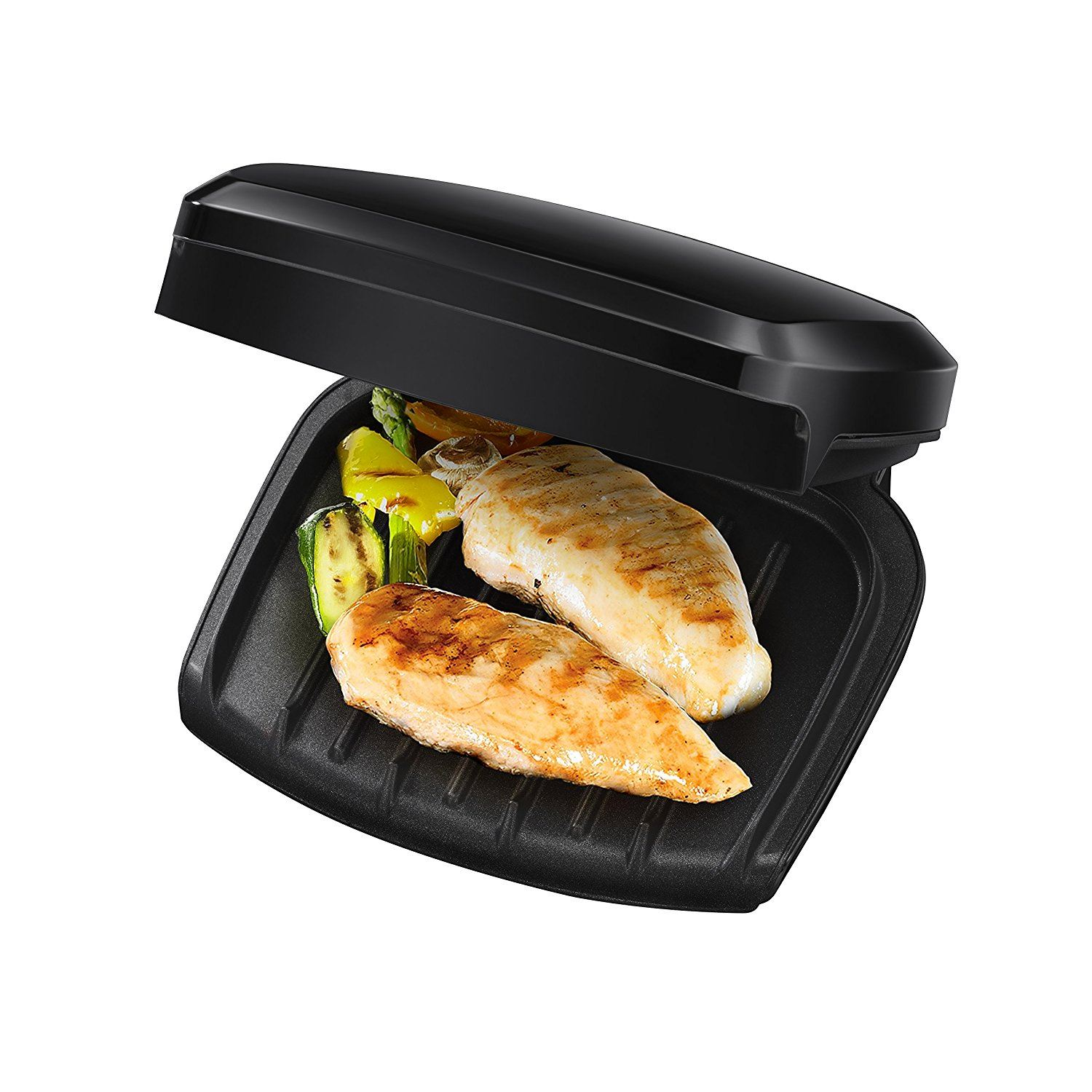 George foreman 23400 compact non stick 2 portion grill new for George foreman grill fish