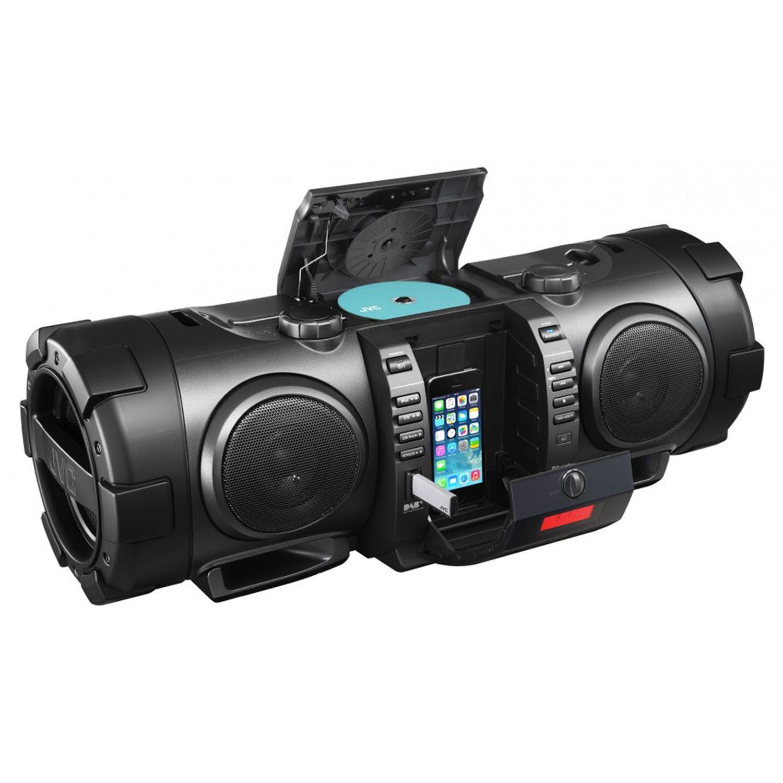 JVC RVNB100B Black Portable CD Boomblaster with Lightning Dock, DAB RV-NB100 New | eBay