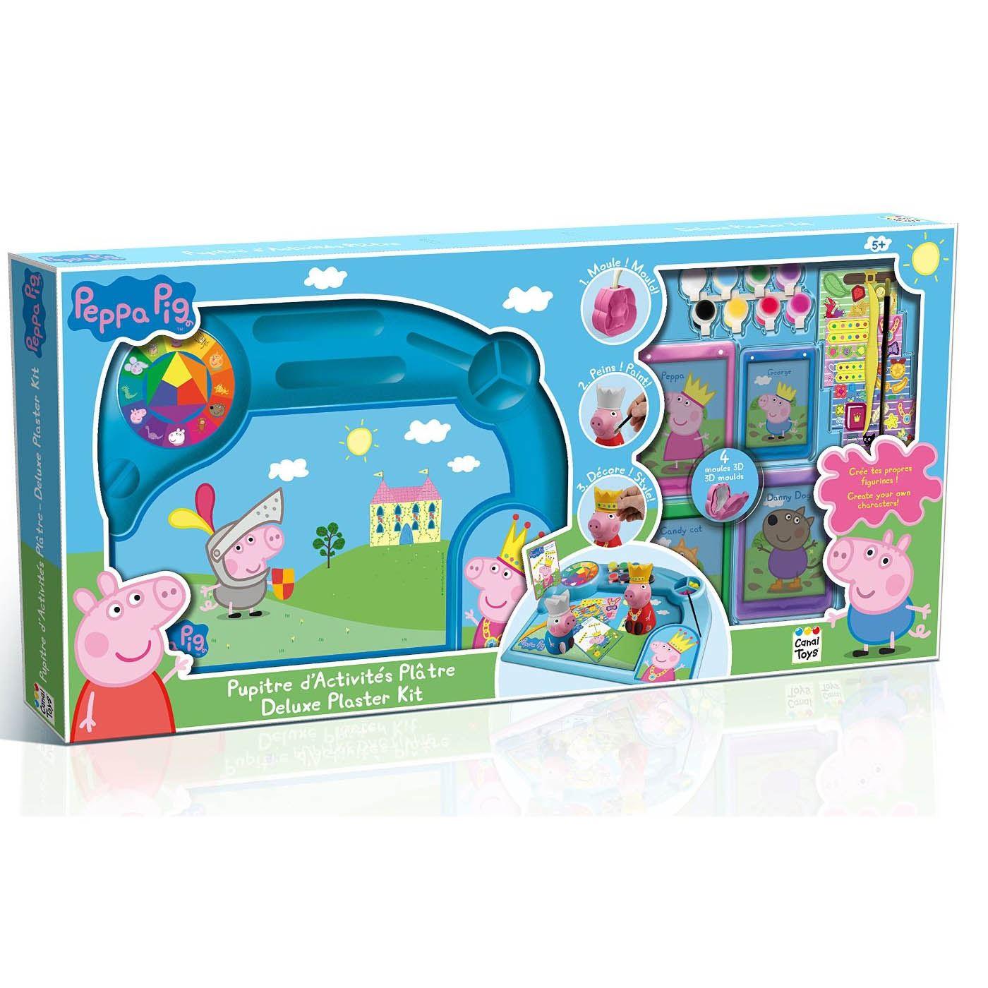 peppa pig activit s pour les enfants peinture amusant art luxe moule pl tre kit ebay. Black Bedroom Furniture Sets. Home Design Ideas