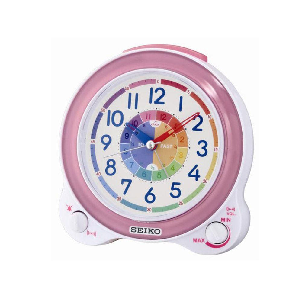 seiko qhk041p enfants cloche lumi re chevet snooze alarme bip horloge r veil ebay. Black Bedroom Furniture Sets. Home Design Ideas