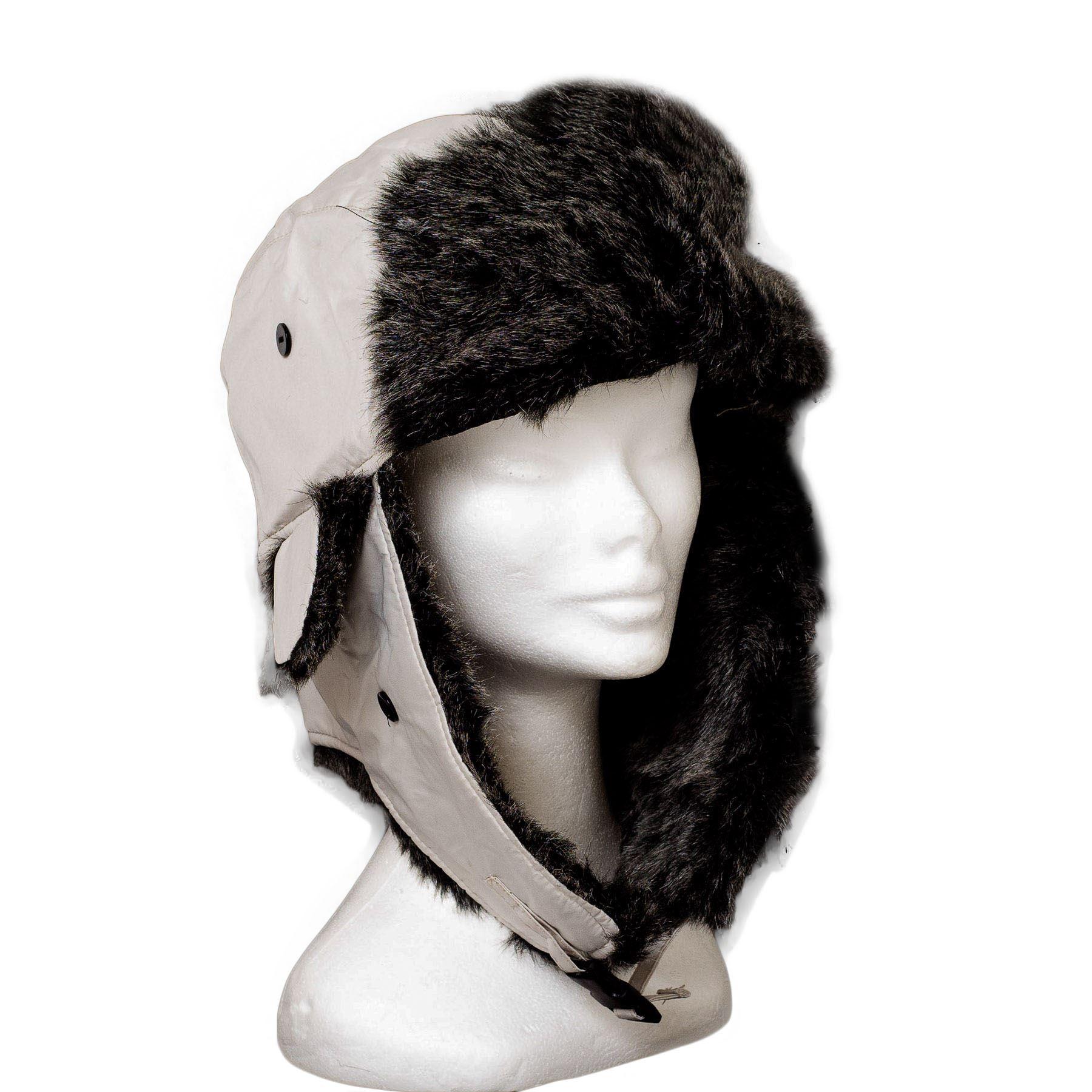 Mens Ladies Trapper Aviator Plain Russian Ushanka Winter ...