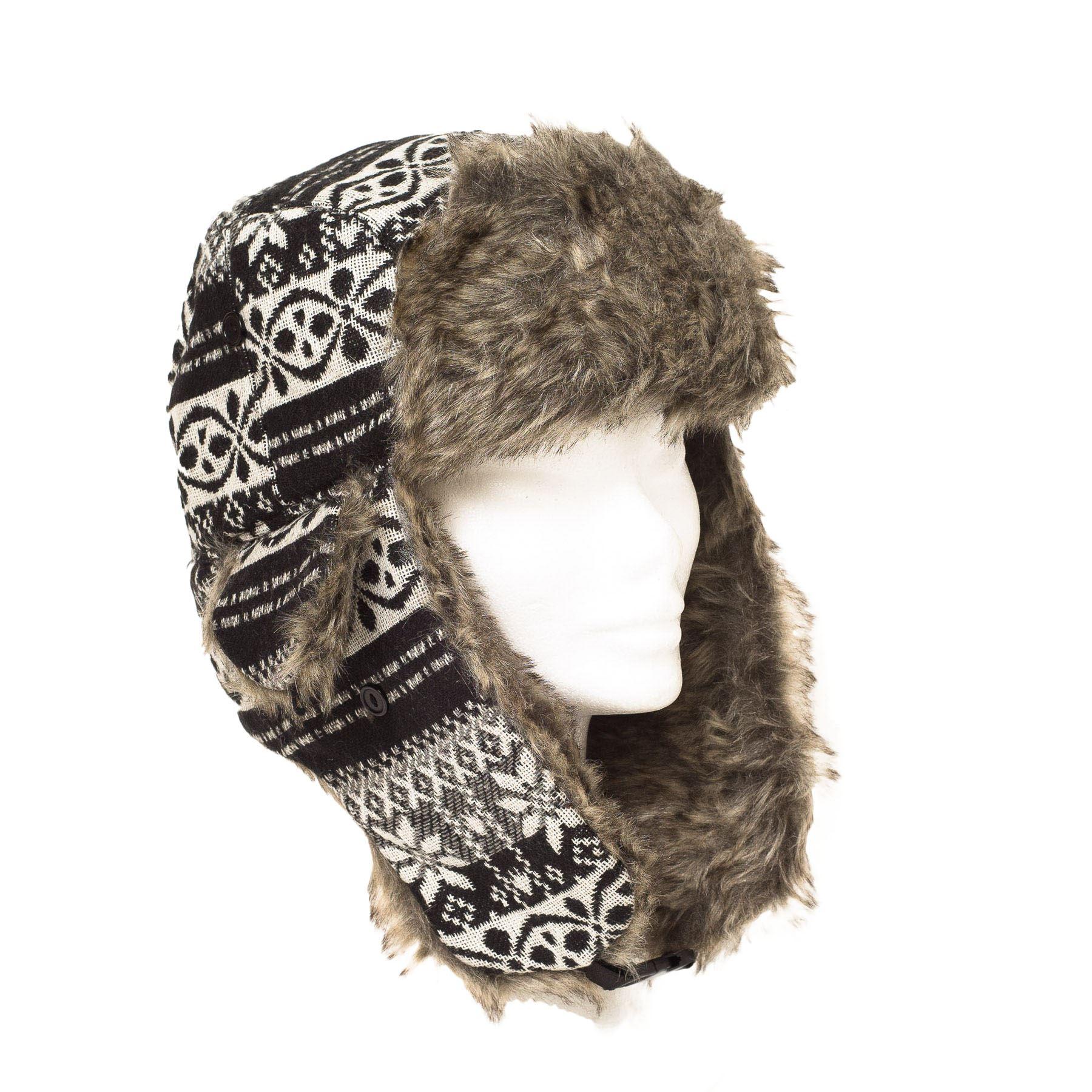 mens trapper aviator russian ushanka winter hat