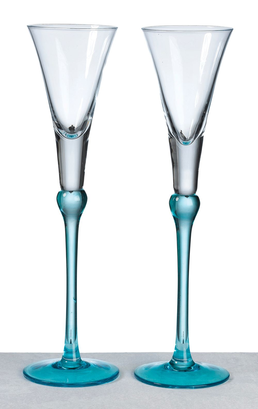 Pair of Tall Toasting Wedding Party Wine Champagne Flutes ...