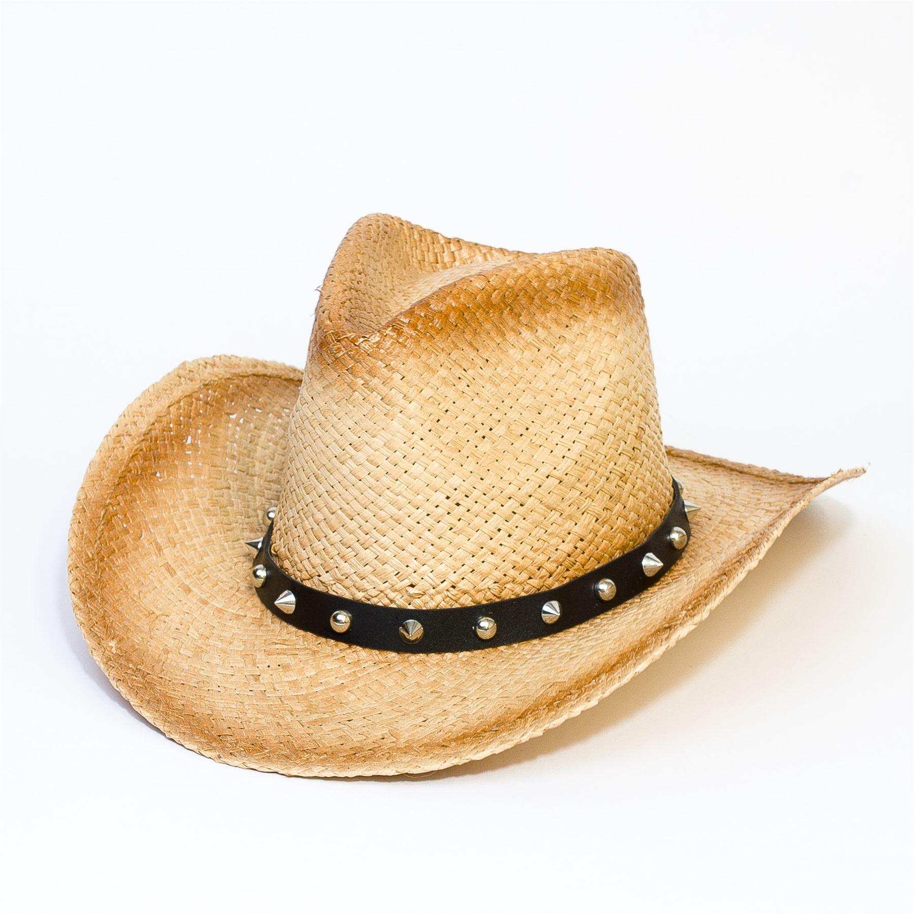 Mens Ladies Fancy Dress Cowboy Western Unisex Cowgirl Hat ...
